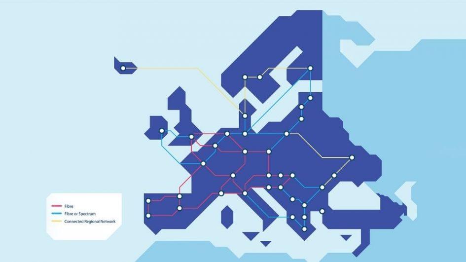 NREN GN4 3N illustrative map GEANT Network fccn FCCN Unidade de Computação